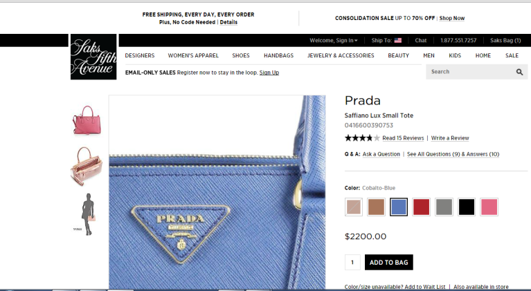 saks prada crooked logo pic zoomed