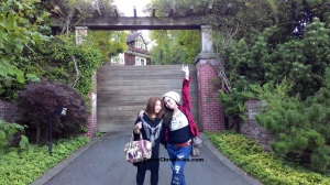 My sister-in-law Beatrix and I in front of the late Kurt Cobain's house in Seattle
